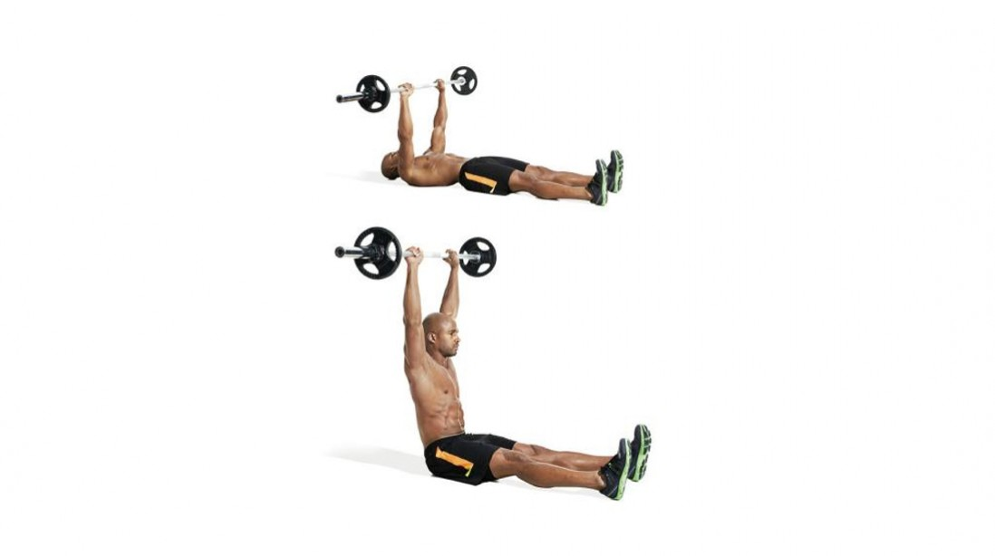 30 Best Ab Exercises Straight Leg Barbell Situp MandF