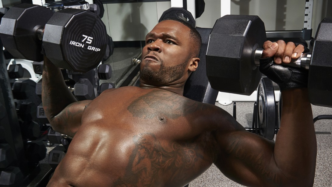 50-Cent-Dumbbell-Bench-Press