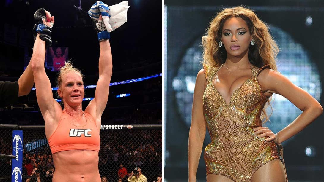 Holly Holm Meets Beyoncé At A Viewing Party For The Alvarez VS. Cotto Fight
