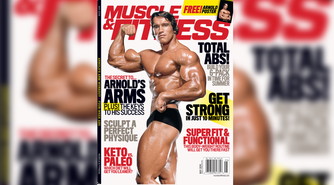 Arnold Hosts Virtual Workout, Unveils New M&F Cover
