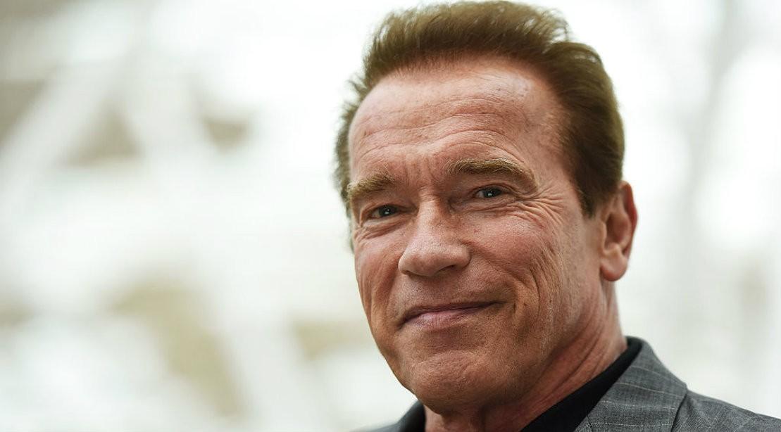 Arnold Schwarzenegger Close Up In Suit