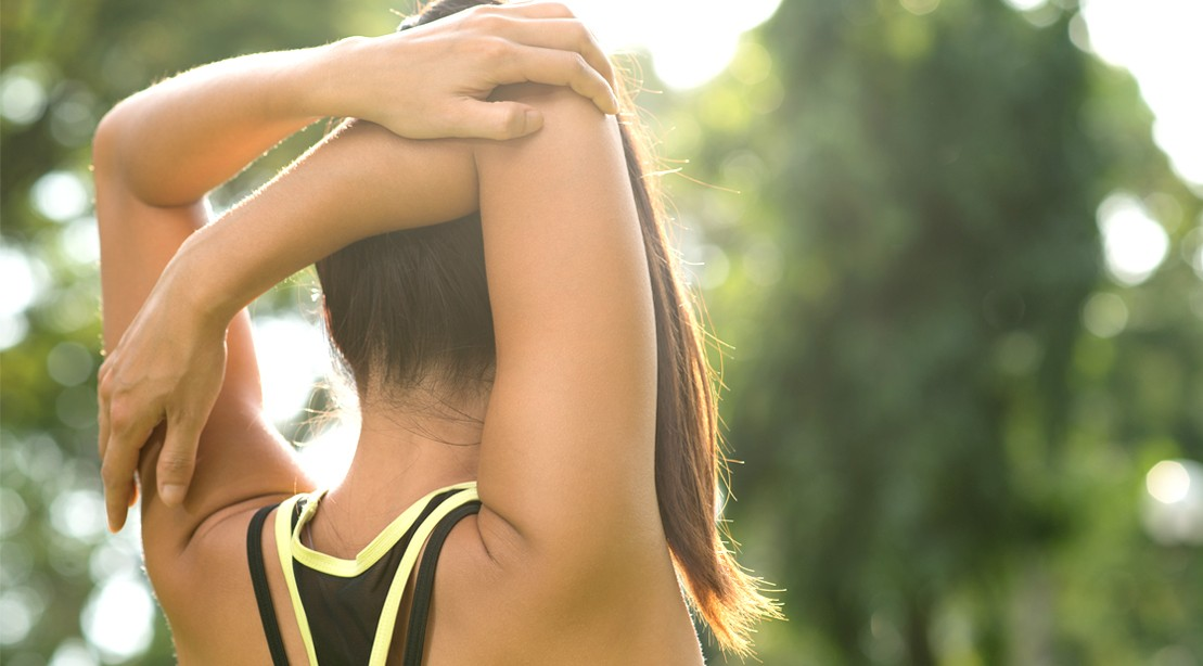 Backward Hand Clasp Shoulder Stretch