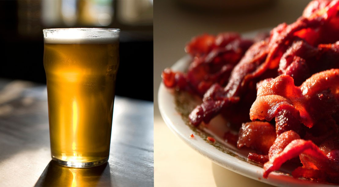 Cutting beer and bacon consumption can reduce risk of cancer