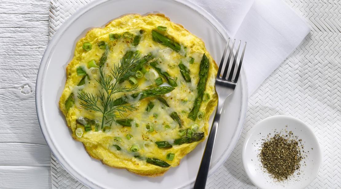 Baked Asparagus & Eggs
