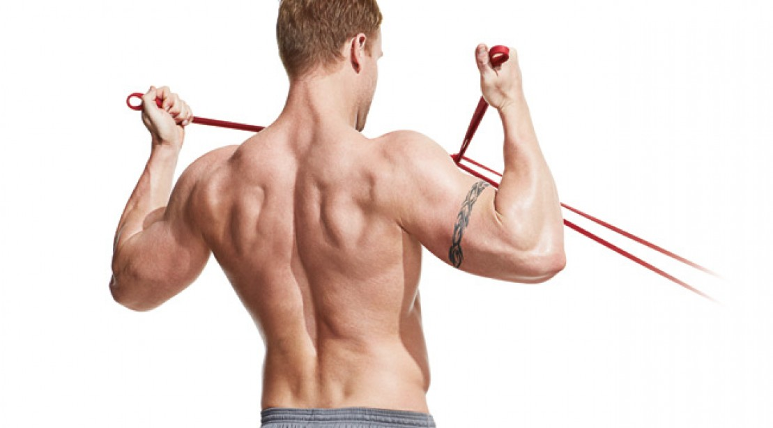 photograph relating to Resistance Band Workout Routine Printable identified as The Band-Merely Shoulder Exercise Muscle mass Exercise