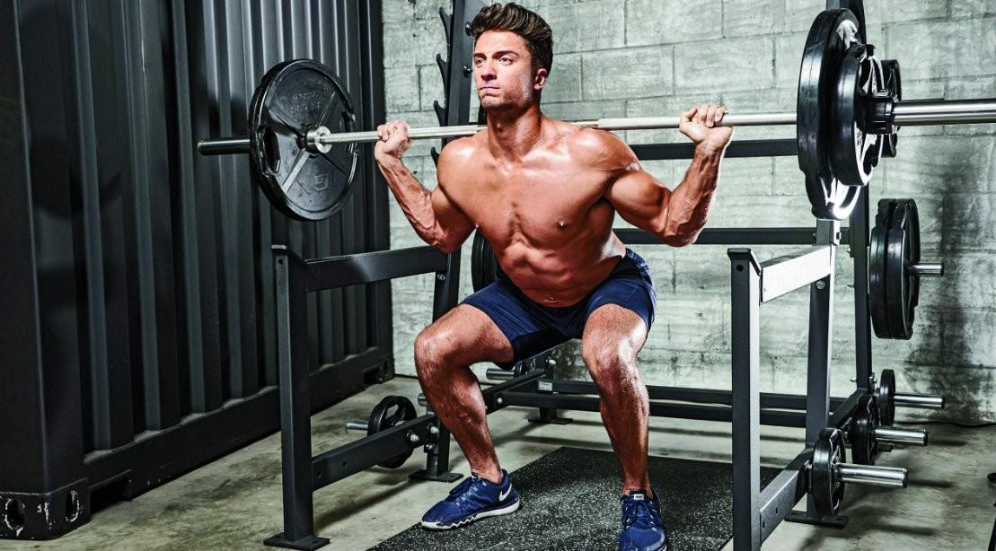 Barbell back squat