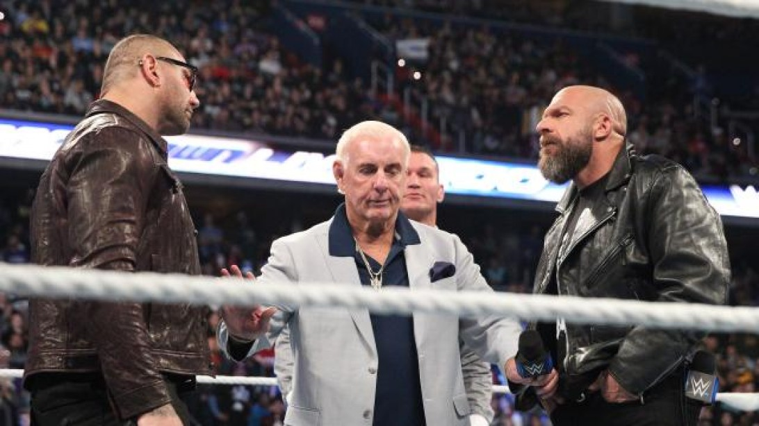Batista confronts Triple H on Smackdown