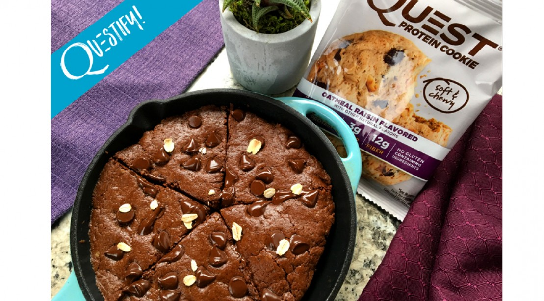 RECIPE: High Protein Chocolate Oatmeal Skillet Brownie