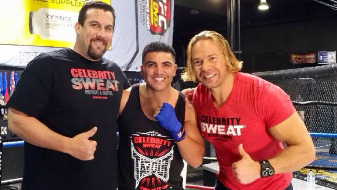 Eric the Trainer and MMA fighter Victor Ortiz