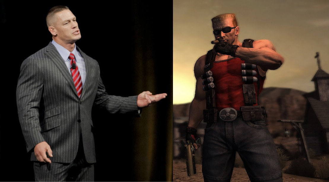 John Cena and Duke Nukem
