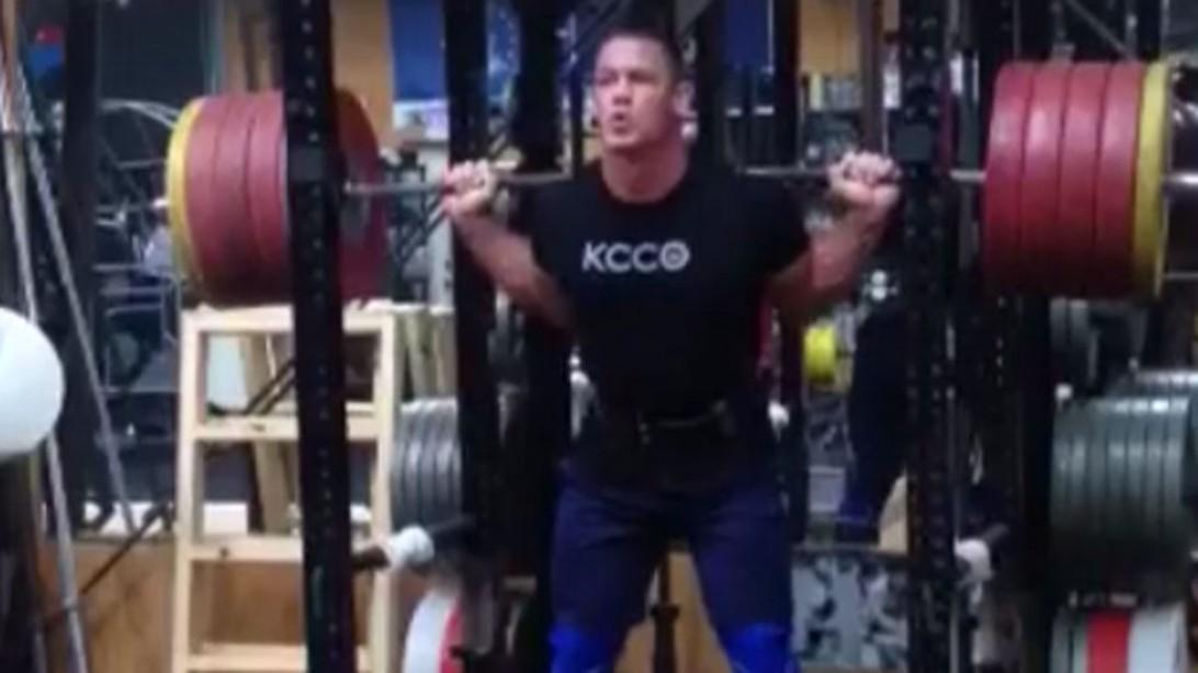 John cena 39 keep calm squat on 39 muscle fitness - John cena gym image ...