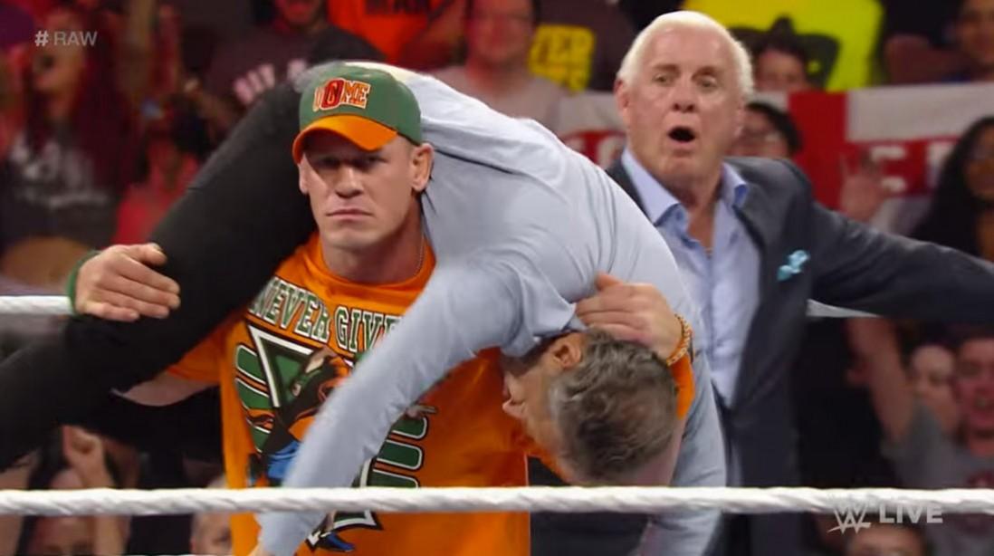 John Cena Gets Revenge on Jon Stewart on Raw