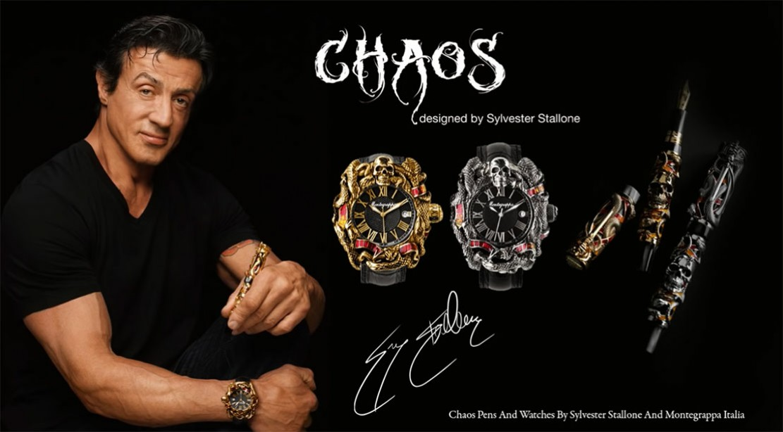 Sylvester Stallone Chaos Watch and Pen