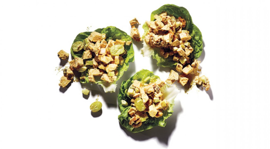 Curry Chicken Salad Lettuce Wrap