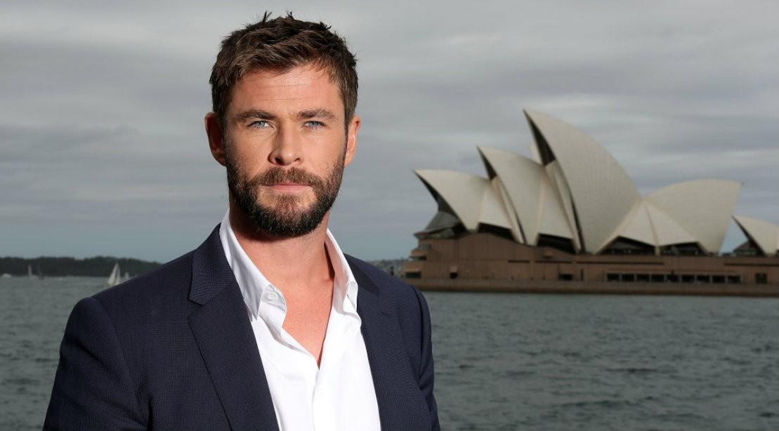 Chris Hemsworth in Sydney Australia