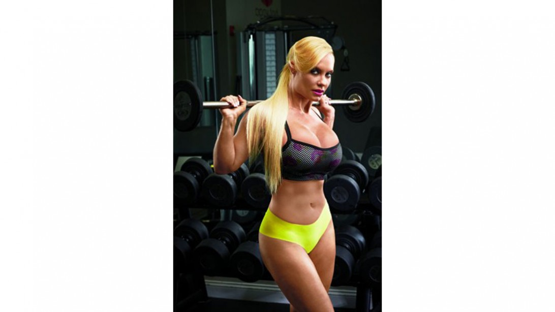 Coco Austin in the gym