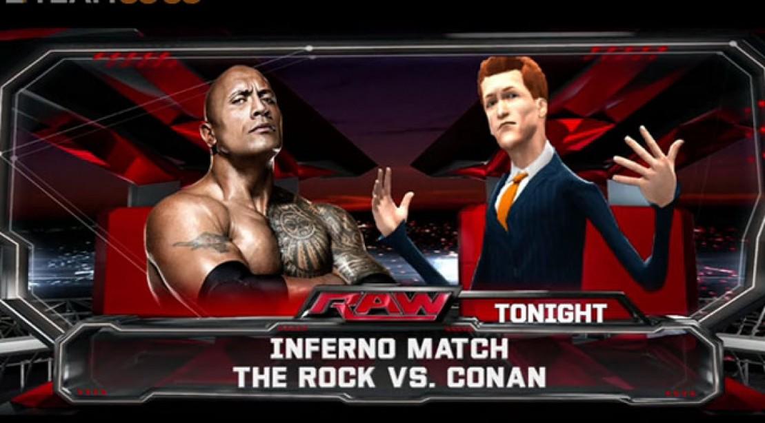 Conan takes on The Rock (Virtually) on 'WWE 2k14'