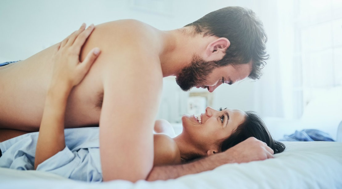 Woman in bed 4 sex