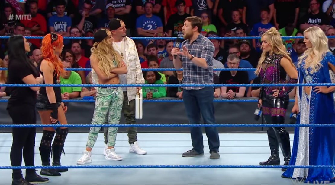 Daniel Bryan In Ring with Money in the Bank Women