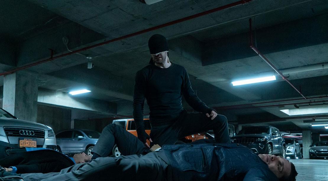 A production still from Marvel's 'Daredevil'