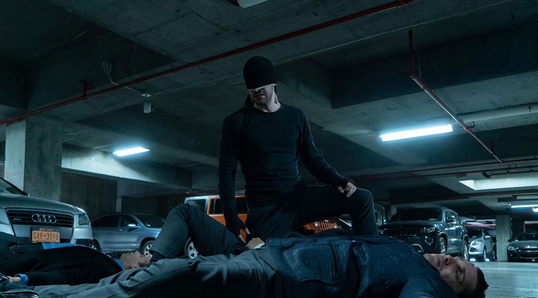 A production still from Marvel's 'Daredevil'