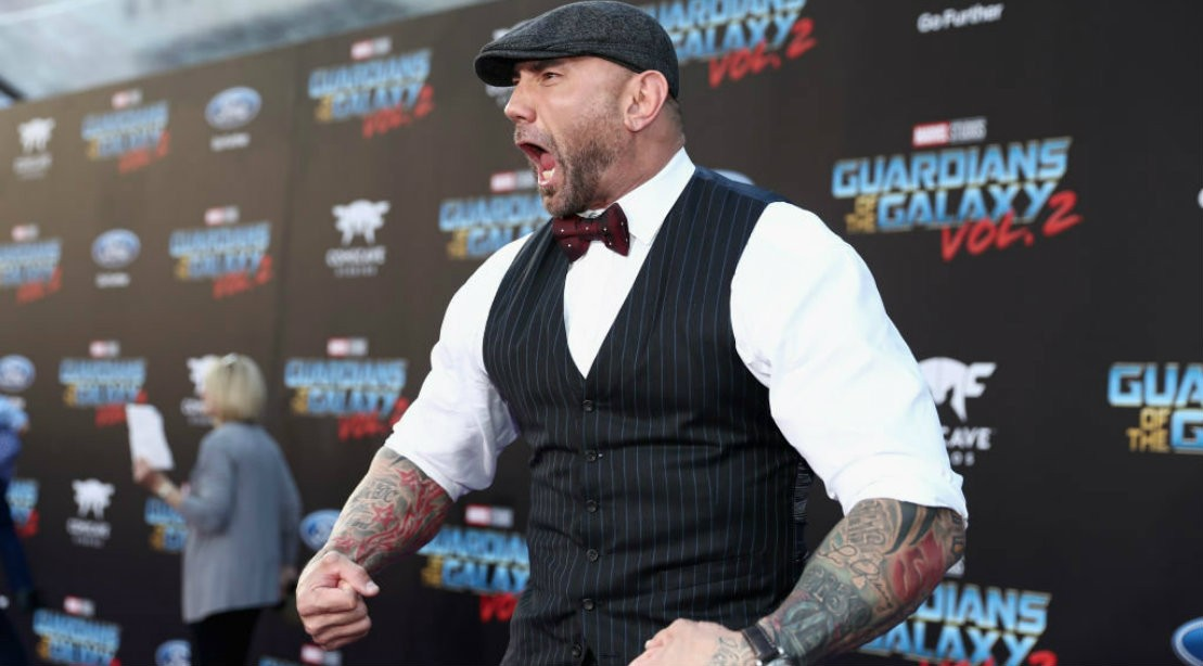 Dave Bautista Red Carpet Appearance for Guardians of the Galaxy 2