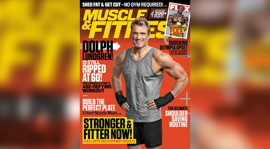 A photo of Dolph Lundgren from the November 'M&F'