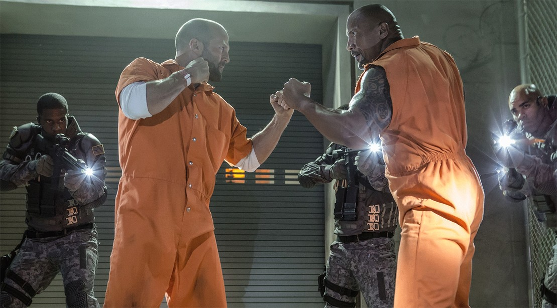 Jason Statham And Dwayne Johnson Square Off In Fate of the Furious.