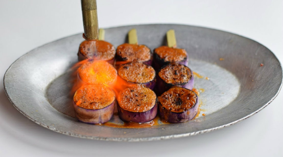 Today's Healthy Catch: Eggplant Skewers