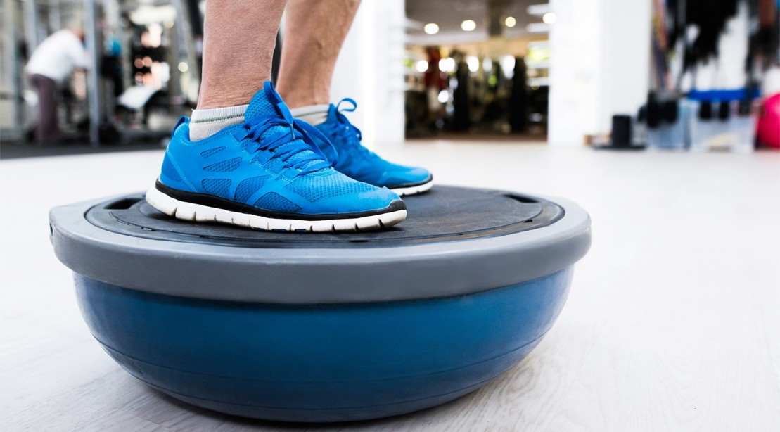 Feet-On-Bosu-Ball