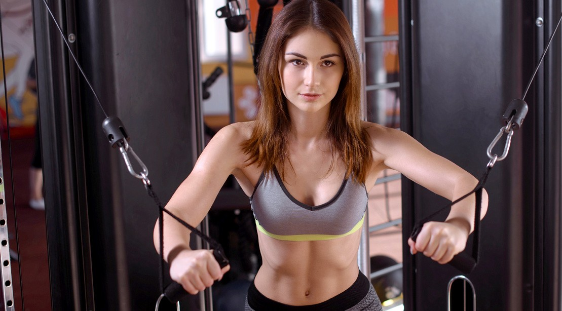 Female Cable Chest Press