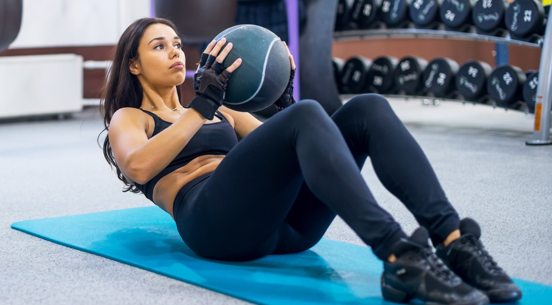 Female Medicine Ball Toss