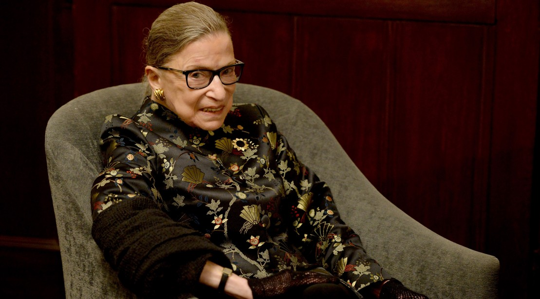 Watch 85-Year-Old Ruth Bader Ginsburg Plank and Curl Her Way Through an Impressive Workout