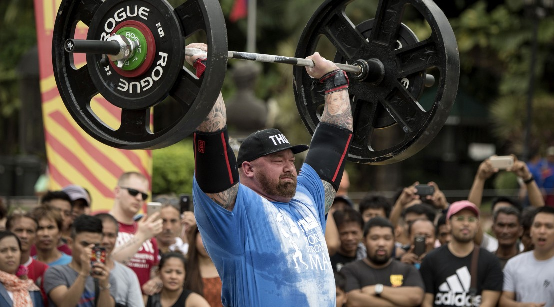 Watch Hafthor Bjornsson Break His Own Weight Over Bar World Record