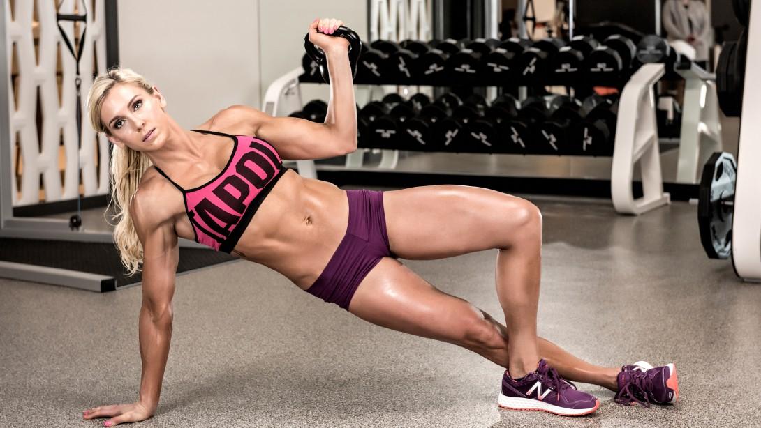 WWE Diva Charlottes Kettlebell Workout