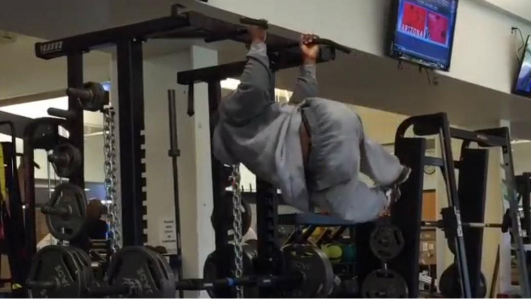 James Harrison at gym