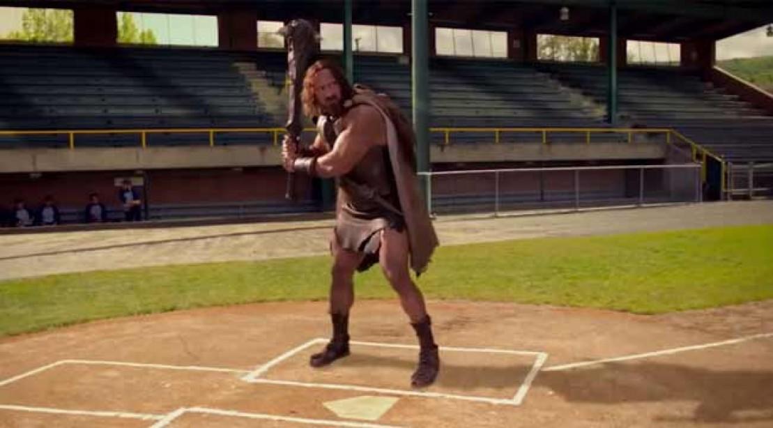 "The Rock promotes ""Hercules"" on ESPN."
