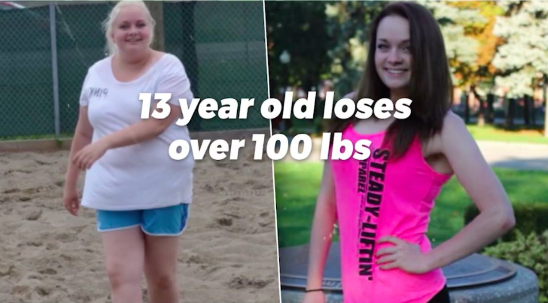 13-Year-Old Inspires with 100lb Weight Loss