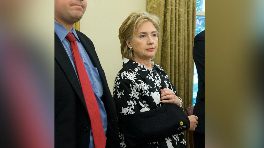 Hateful Hillary: Resentful Security Detail Laughed At Her Broken Elbow!