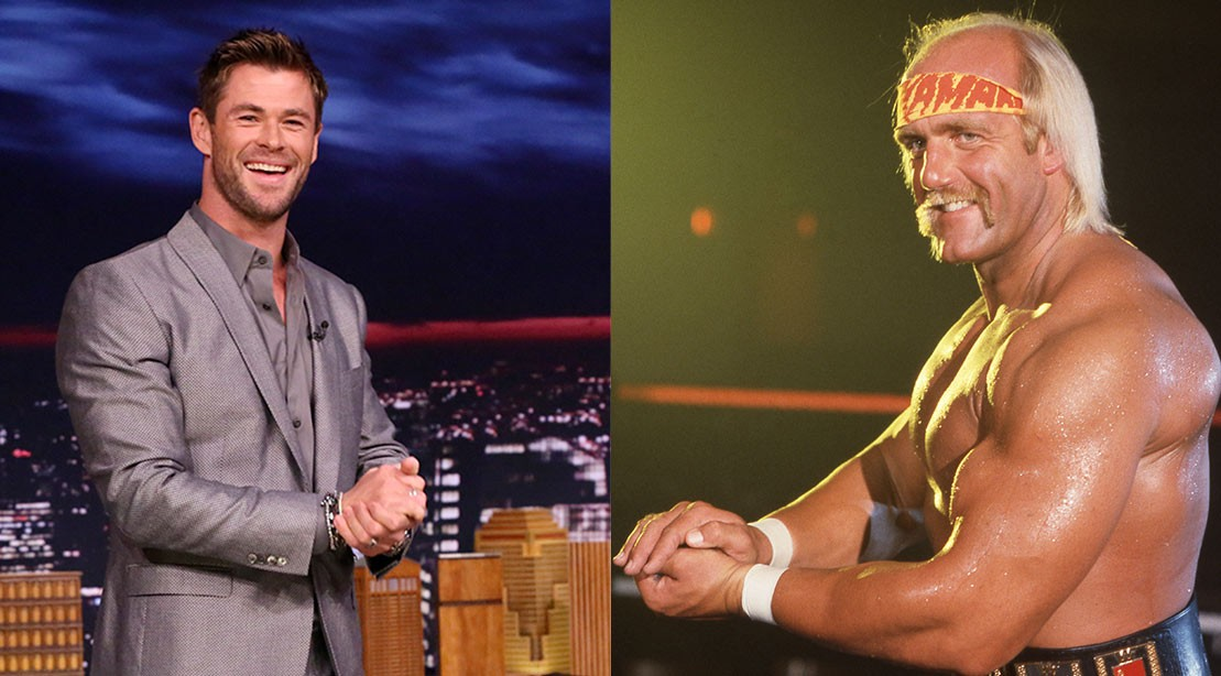 "Chris Hemsworth as Hulk Hogan in new biography. ""title ="" Chris Hemsworth as Hulk Hogan in new biography. ""/>    <div class="