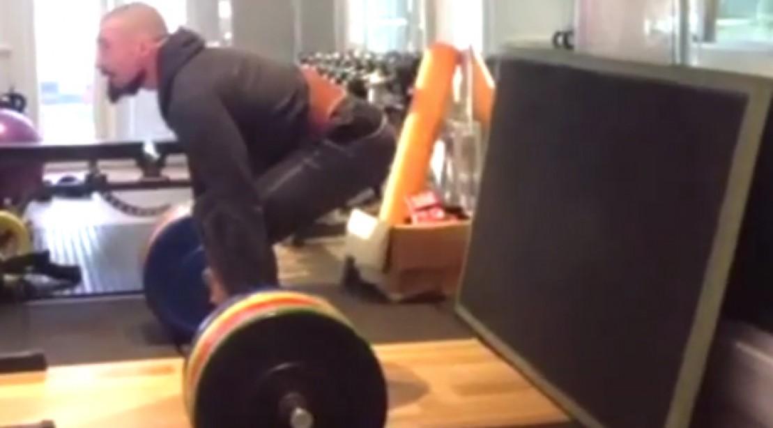 Hugh Jackman Deadlifts 396.8 pounds