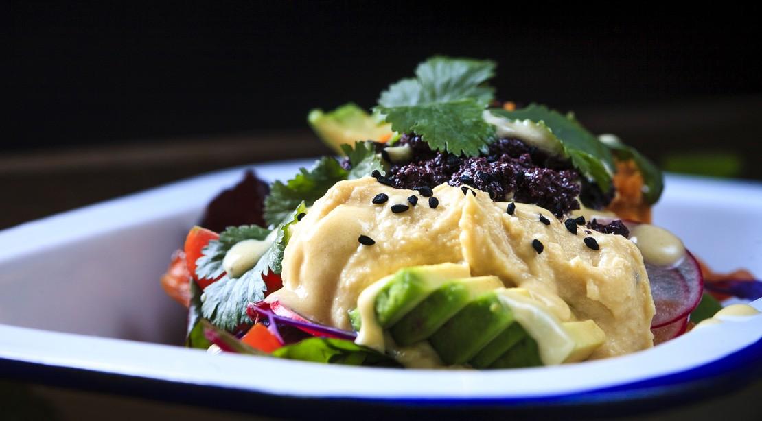 Hummus Caesar Salad Dressing