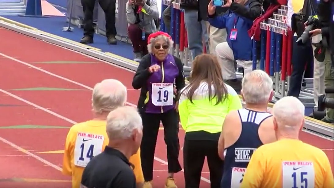 100-Year-Old Woman Sets Record in 100 Meter Dash