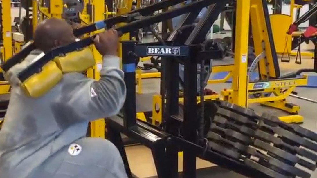 James Harrison is Moving Some Serious Weight
