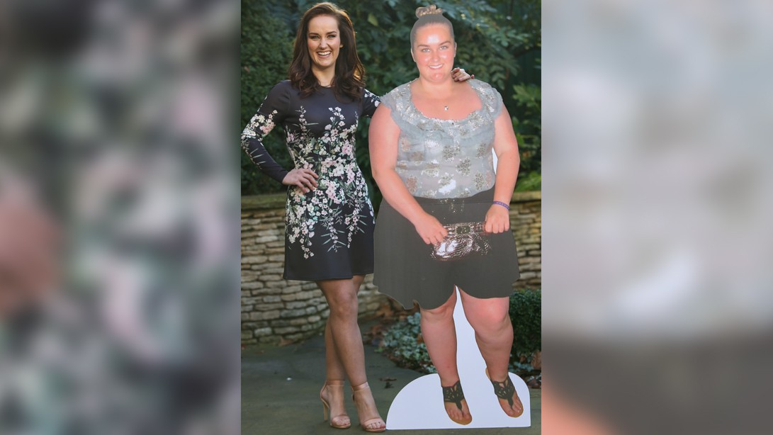 Jennifer Ginley lost half her body weight in a year.