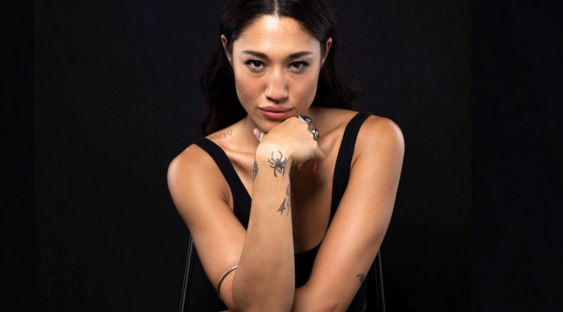 Jennifer-Cheon-Garcia-Netflix-Van-Helsing-Blue-Steel