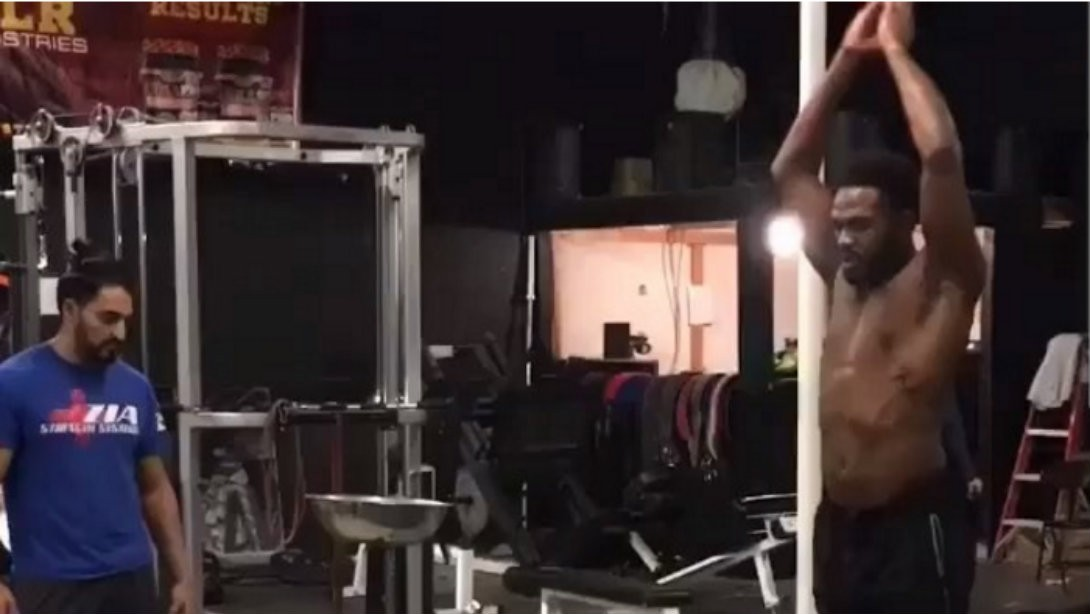 Jon Jones Goes Hard in the Gym