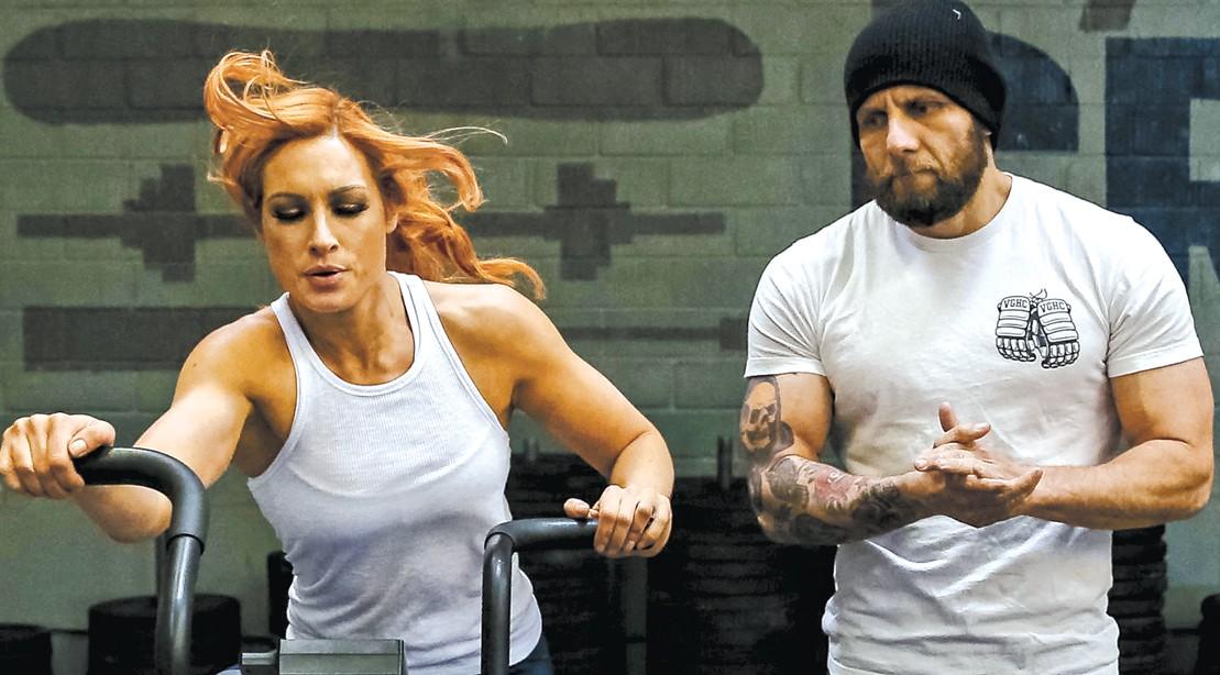 Josh-Gallegos-Training-Becky-Lynch-On-Bike