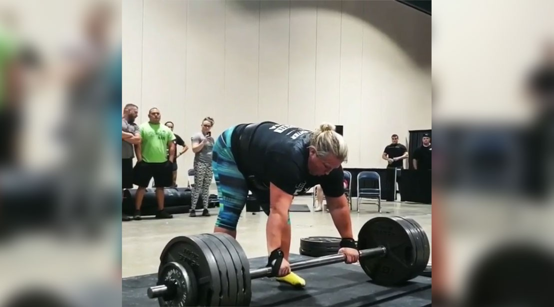 Kristin Rhodes is the strongest woman in America.