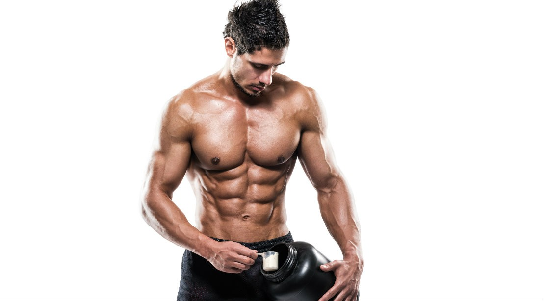 Man with Protein Powder